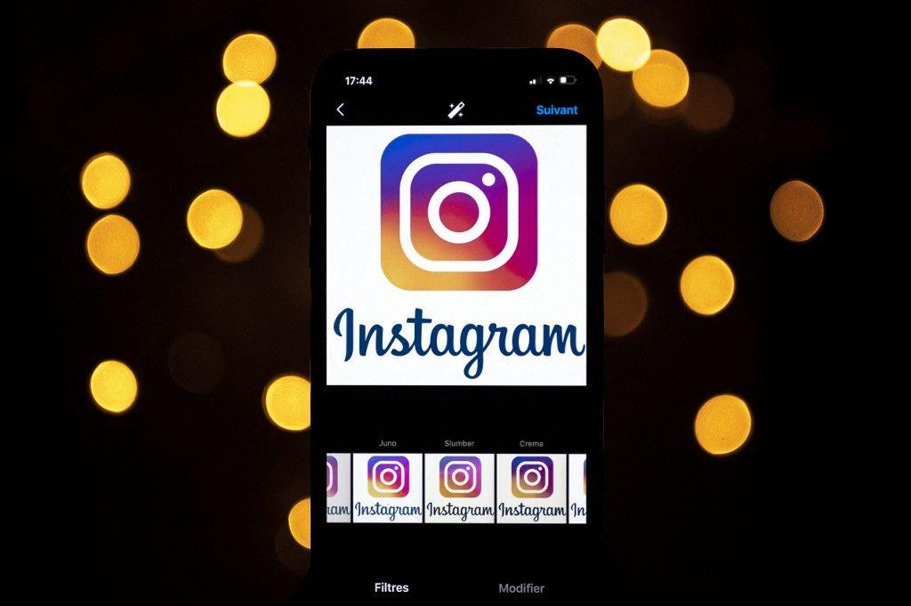Une photo prise le 28 septembre 2020 montre le logo d'Instagram sur un smartphone, dans le sud-ouest de la France.