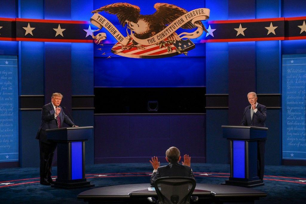Joe Biden Donald Trump débat distance