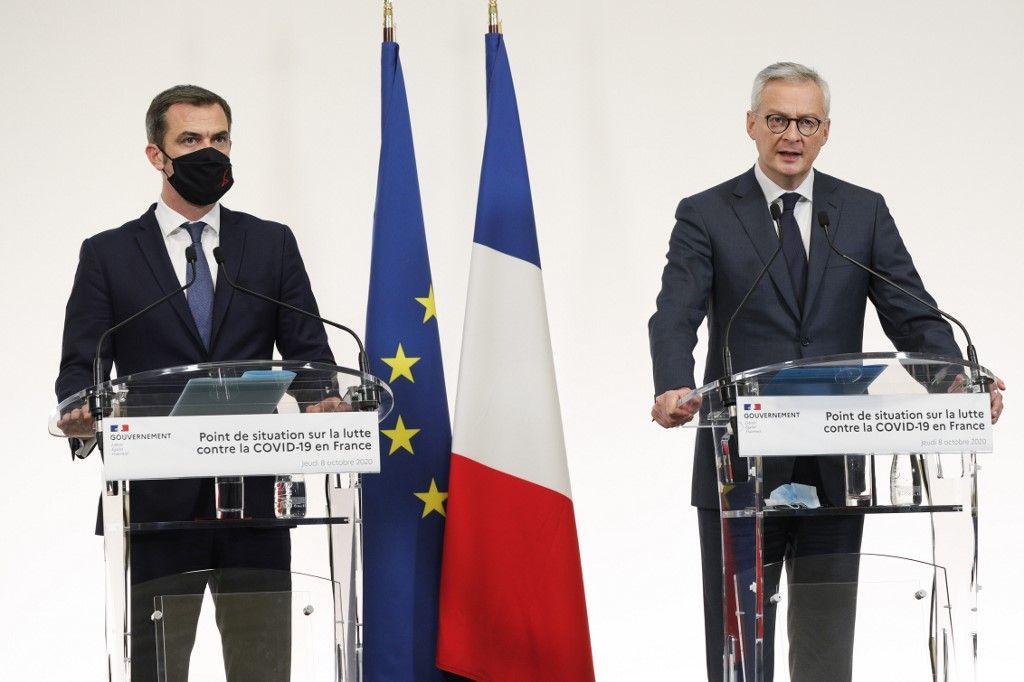 Bruno Le Maire Olivier Véran économie santé crise France