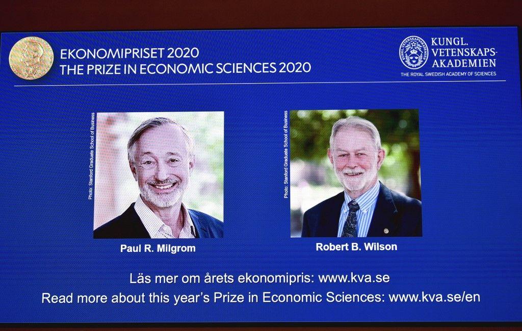 Prix Nobel d'économie Paul Milgrom et Robert Wilson