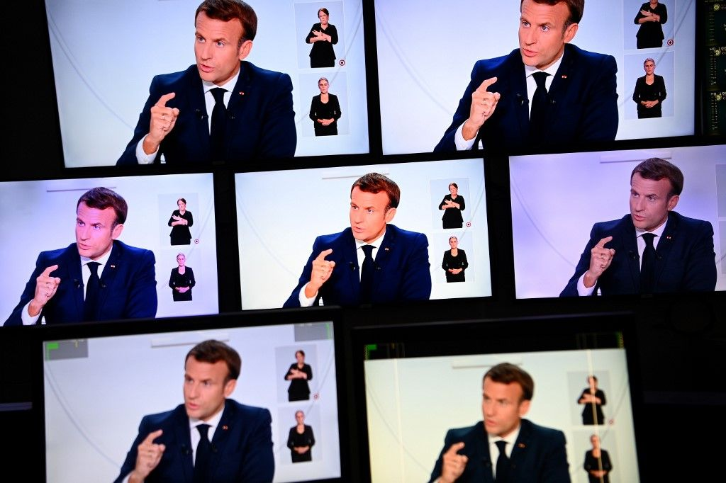 Emmanuel Macron annonces couvre-feu coronavirus covid-19