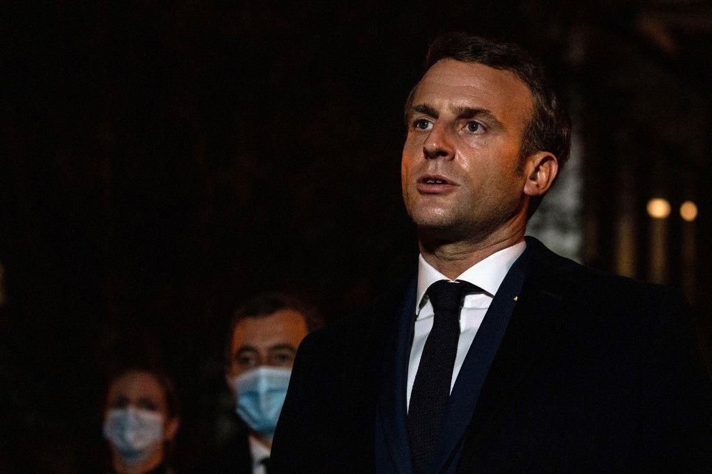 Emmanuel Macron Conflans-Sainte-Honorine