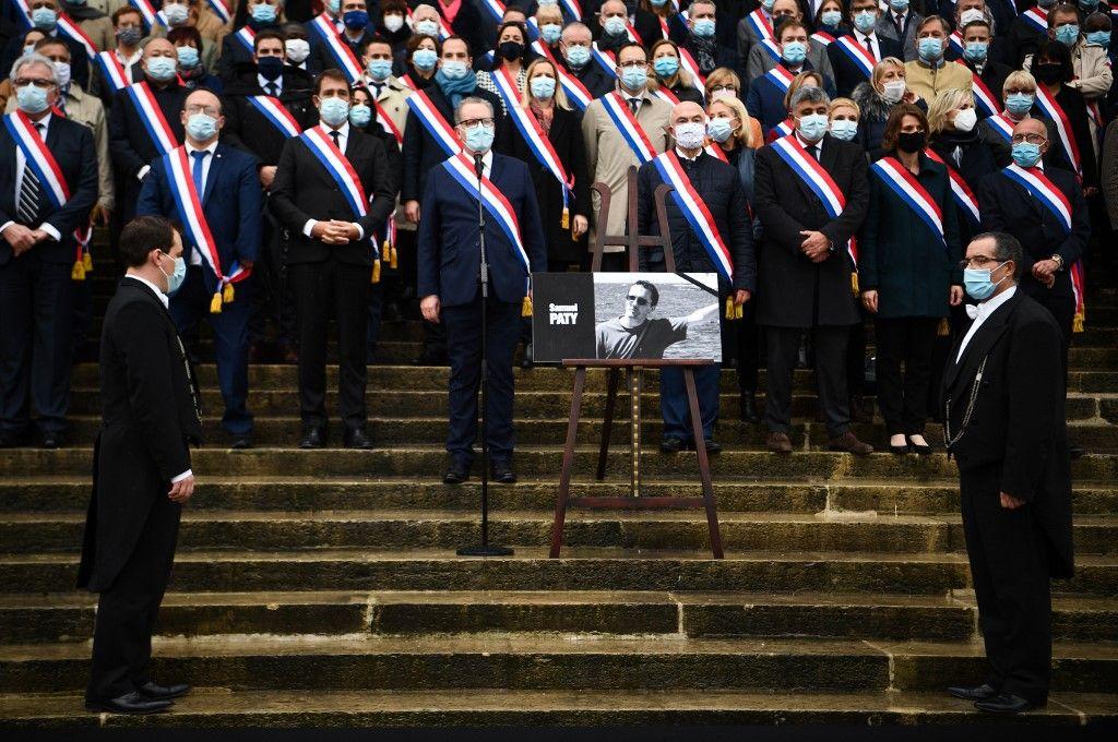 Samuel Paty hommage national La Sorbonne