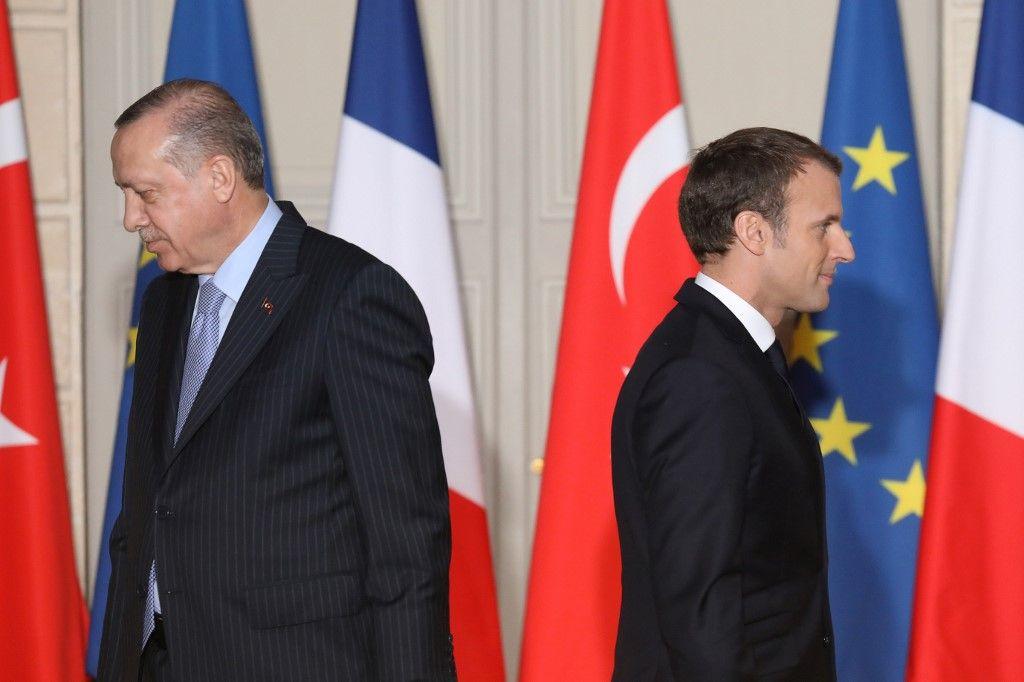 Emmanuel Macron Recep Tayyip Erdogan France turquie