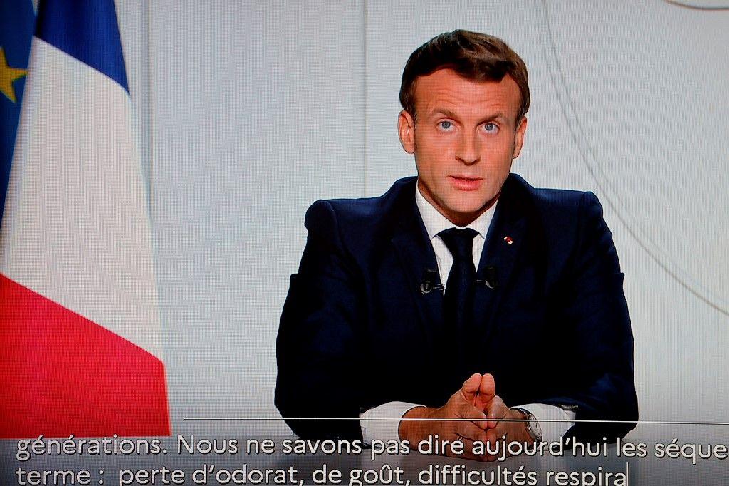 Emmanuel Macron reconfinement coronavirus covid-19 mesures
