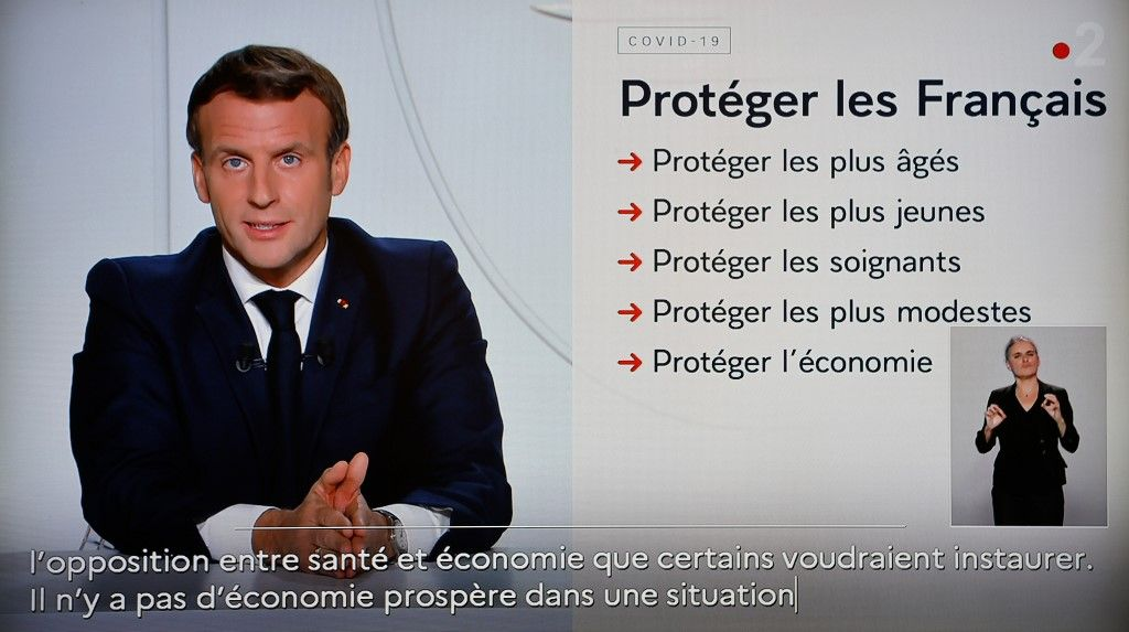 Emmanuel Macron mesures France coronavirus covid-19 reconfinement