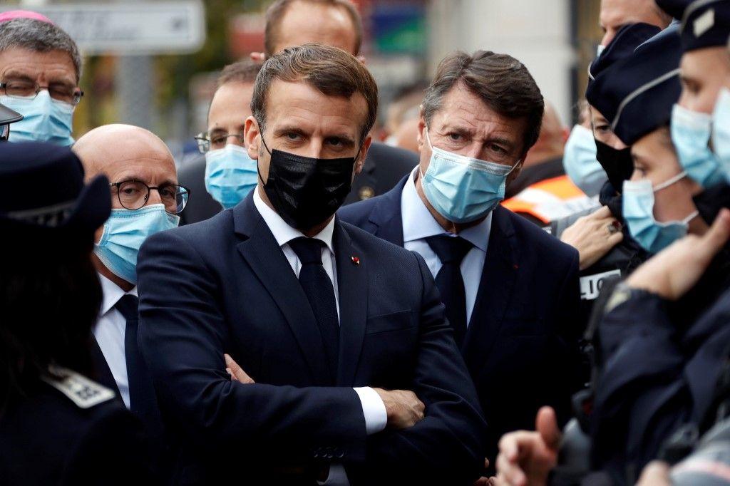 Emmanuel Macron à Nice