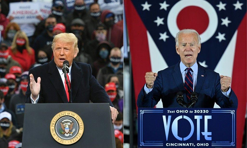 Donald Trump Joe Biden élection présidentielle américaine Etats-Unis vote sondage résultats 3 novembre 2020