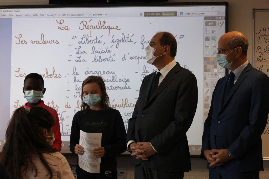 Jean-Michel Blanquer Jean Castex éducation nationale laïcité