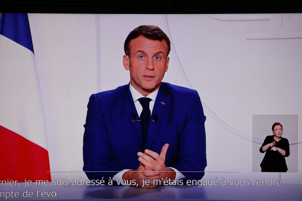 Emmanuel Macron président de la république allocution coronavirus covid-19