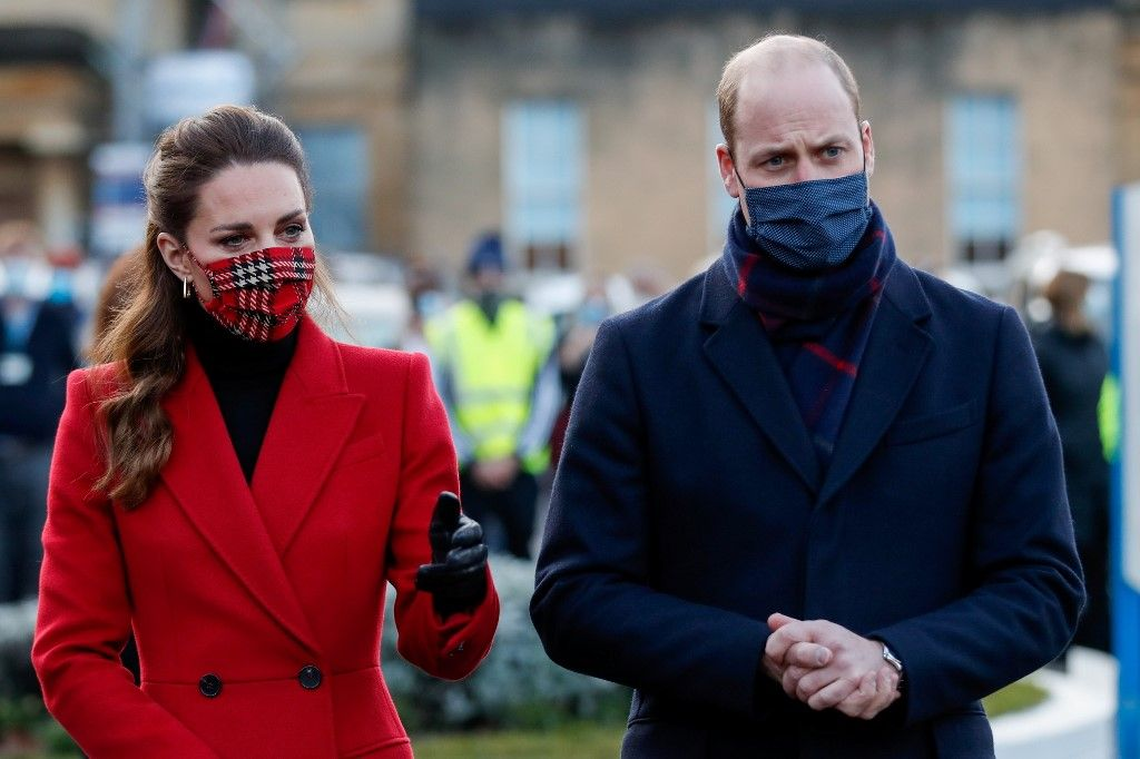 Kate Middleton prince William famille royale gestes barrières
