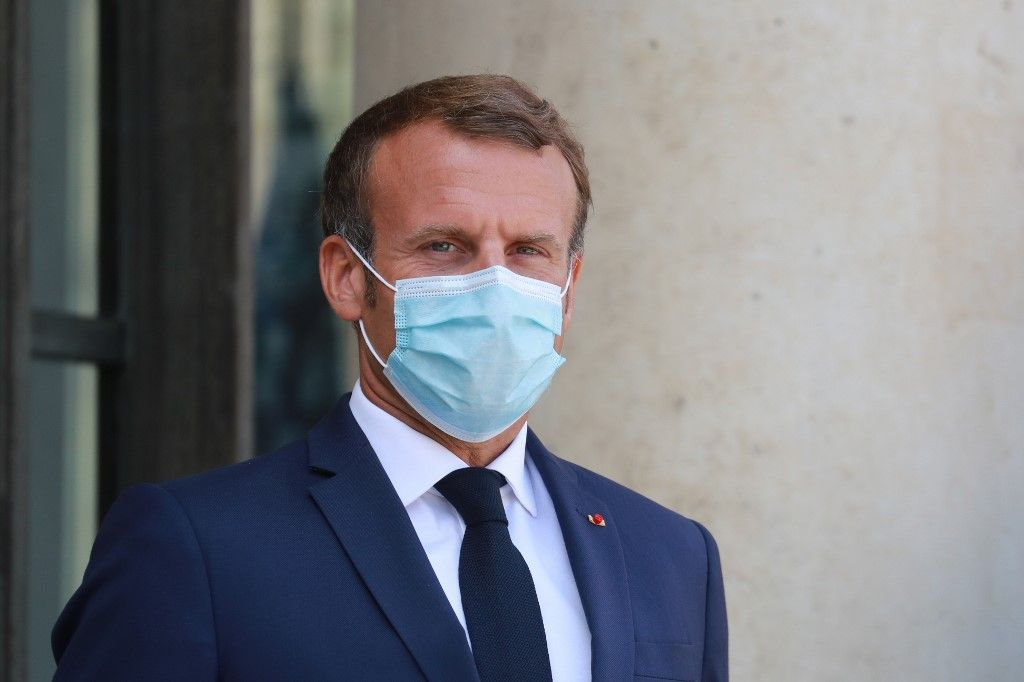 Emmanuel Macron positif au coronavirus covid-19 contamination Elysée Brigitte Macron