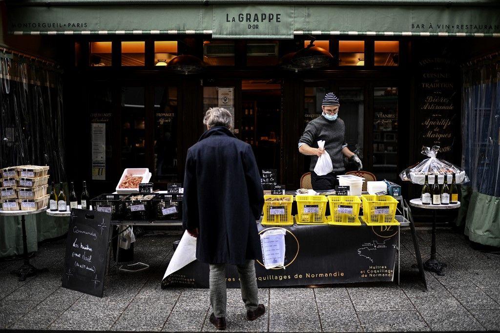 Les restaurants ne peuvent aujourd'hui que faire de la vente à emporter ou en livraison.