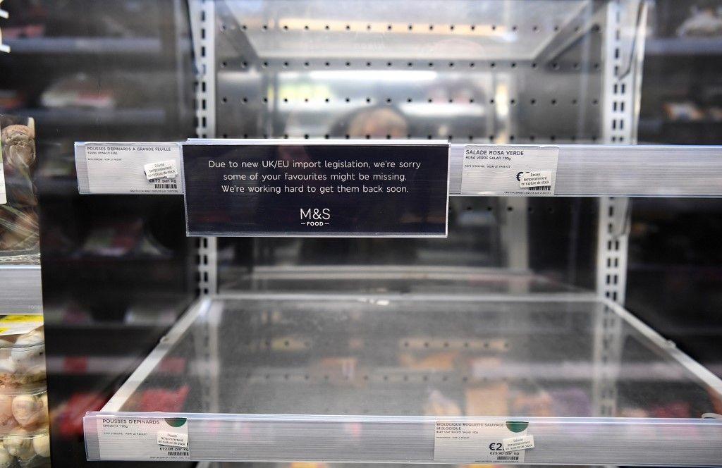 Marks & Spencer pénurie rayons alimentation Brexit conséquence nourriture approvisionnement