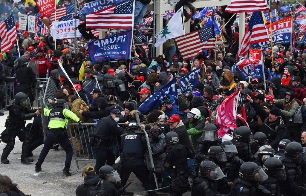 Etats-Unis Washington Capitole incidents Donald Trump