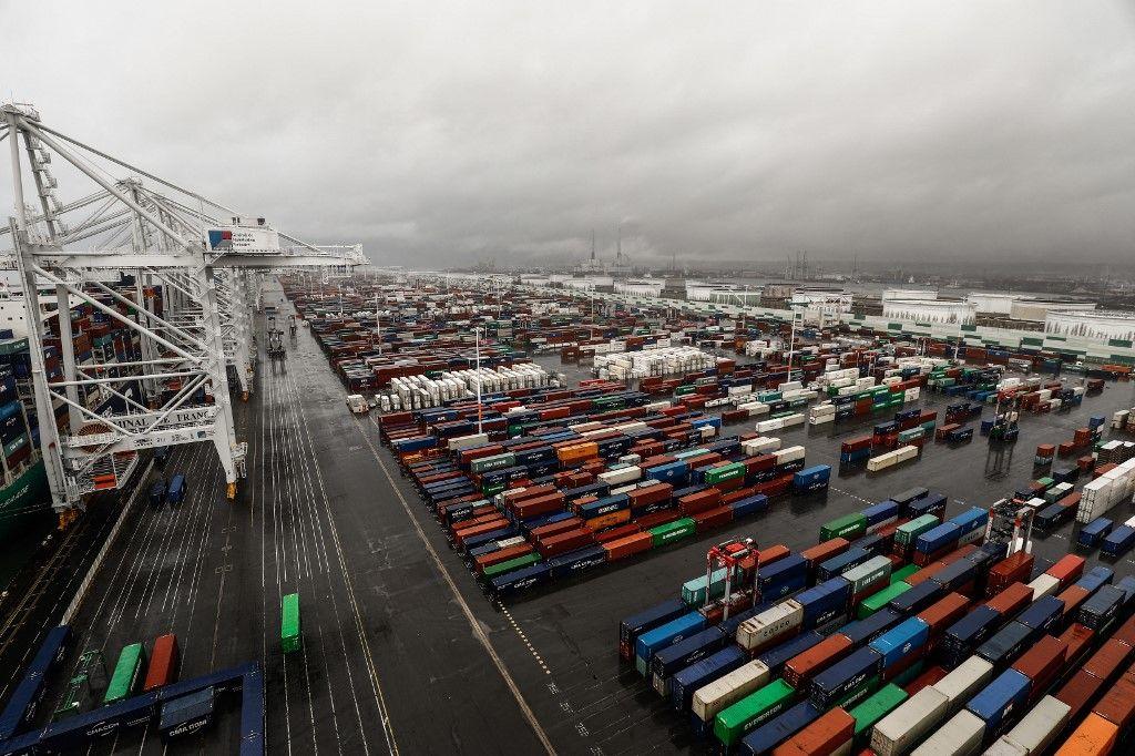 Le port du Havre en janvier 2021.