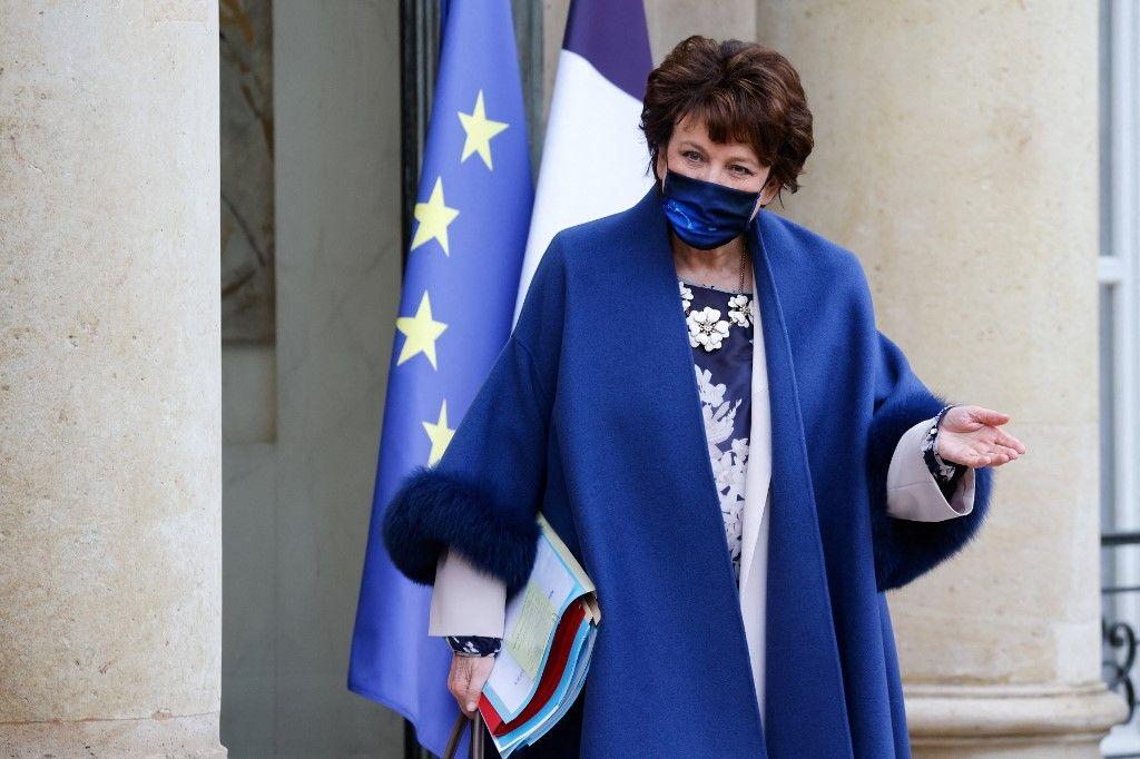 La ministre de la Culture, Roselyne Bachelot, à l'issue d'un Conseil des ministres.