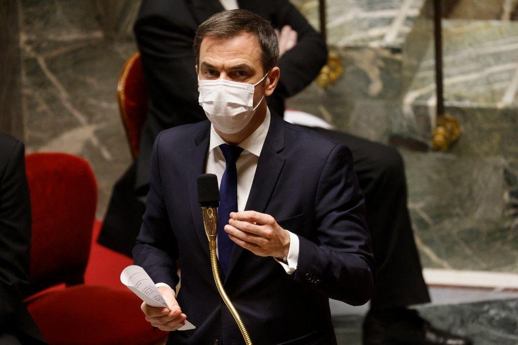 Le ministre de la Santé, Olivier Véran, s'exprime lors d'une séance de questions au gouvernement à l'Assemblée nationale.