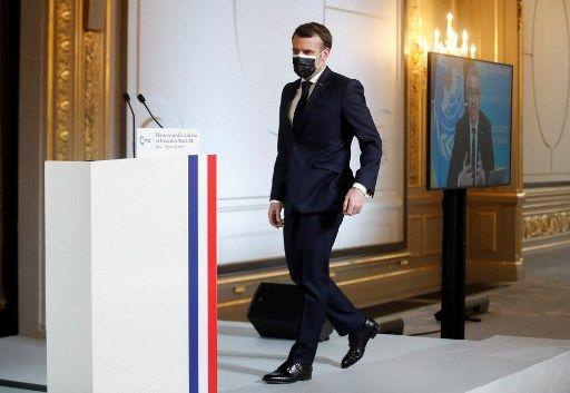 Emmanuel Macron, le 19 février 2021.