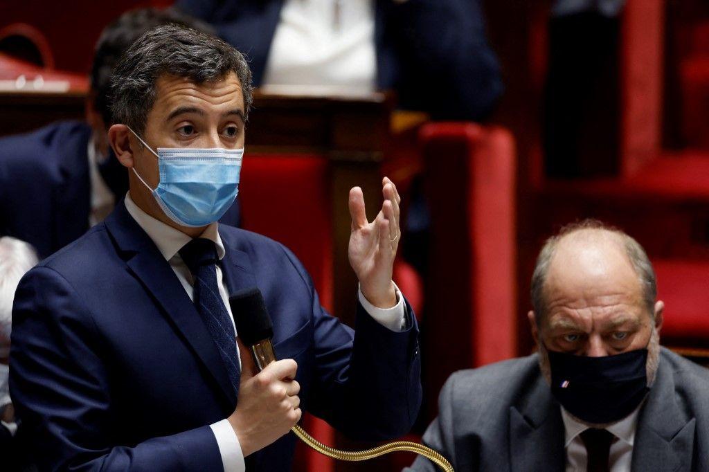 Gérald Darmanin s'exprime à l'Assemblée nationale.