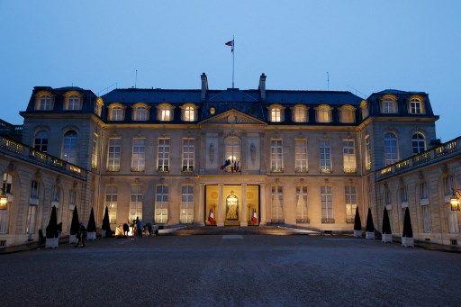Vue du Palais de l'Elysée, le 10 mars 2021.