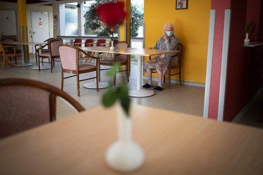 La pensionnaire d'un Ehpad, le 30 mars 2021.