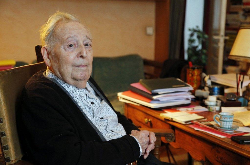 L'historien français Marc Ferro à Saint-Germain-en-Laye en septembre 2015. L'historien est décédé à l'âge de 96 ans ce jeudi 22 avril 2021.