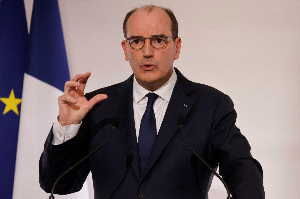 Le Premier ministre, Jean Castex, s'exprime lors d'une conférence de presse sur la stratégie du gouvernement face à la pandémie de Covid-19.