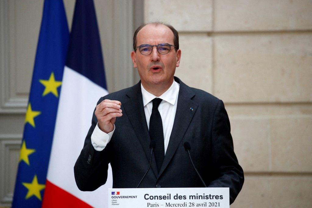 Jean Castex s'exprime lors d'une conférence de presse ce mercredi 28 avril