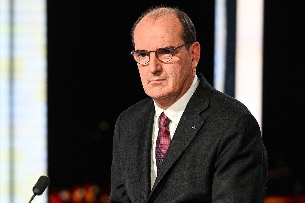 Le Premier ministre Jean Castex sur le plateau du journal télévisé de France 2 le 11 mai 2021.