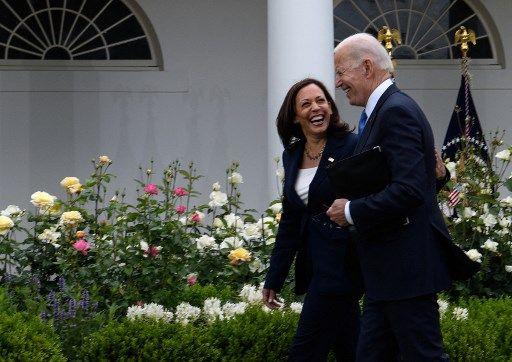 Joe Biden et Kamala Harris, le 13 mai 2021.