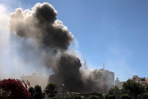 Des bombardements israéliens dans la bande de Gaza.