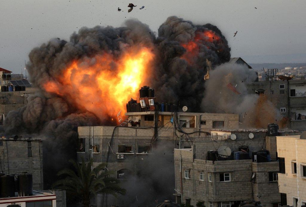 Une image des frappes aériennes menées sur Gaza en mai 2021.