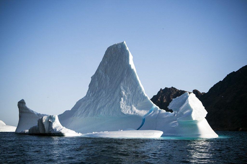 Dans cette photo d'archive d'août 2019, un iceberg est représenté près de l'île de Kulusuk sur la rive sud-est du Groenland.