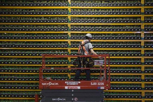 Une ferme de minage de Bitcoin, au Québec.