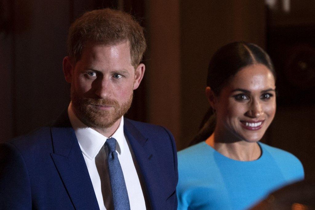 Le prince Harry et Meghan Markle après avoir assisté aux Endeavour Fund Awards au Mansion House à Londres en mars 2020.