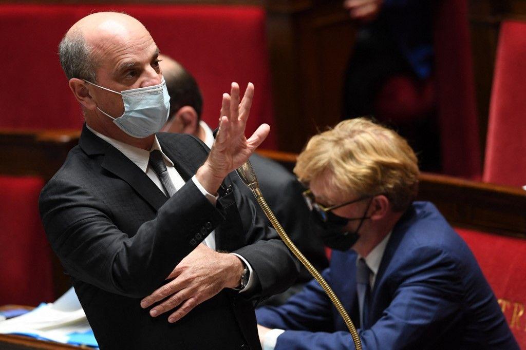 Le Ministre de l'Education nationale, Jean-Michel Blanquer, lors d'une session de questions à l'Assemblée nationale.