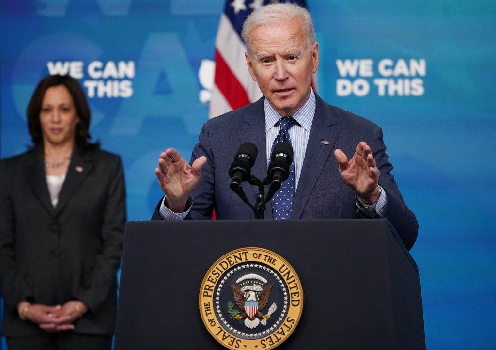 Le président américain Joe Biden s'exprime dans l'auditorium de la Cour sud de la Maison Blanche le 2 juin 2021 à Washington.