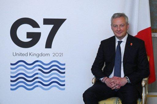 Le ministre de l'Economie, Bruno Le Maire, lors du G7 finances à Londres, le 4 juin 2021.