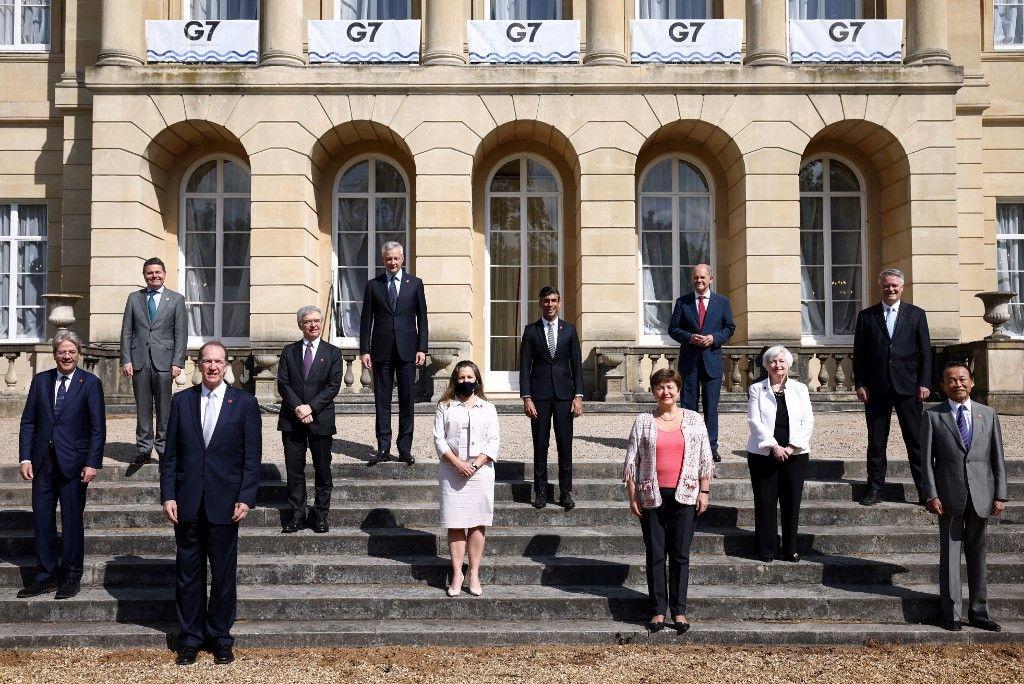 Les ministres participant au G7 finances, le 5 juin 2021.