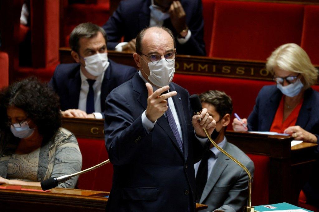 Le Premier ministre, Jean Castex, s'exprime lors d'une séance de questions au gouvernement à l'Assemblée nationale le 8 juin 2021.