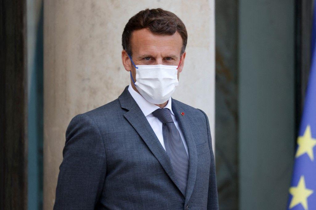 Le président Emmanuel Macron le 9 juin 2021 à l'Elysée.