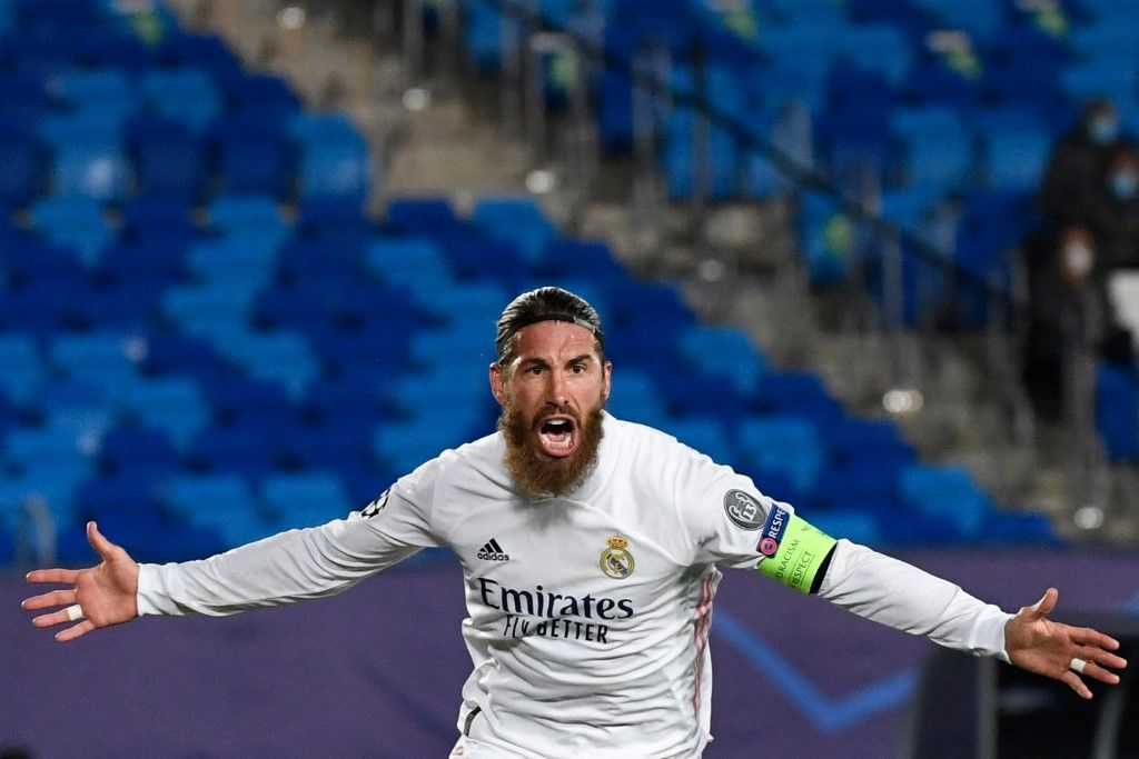 Sergio Ramos sous les couleurs du Real Madrid en novembre 2020.