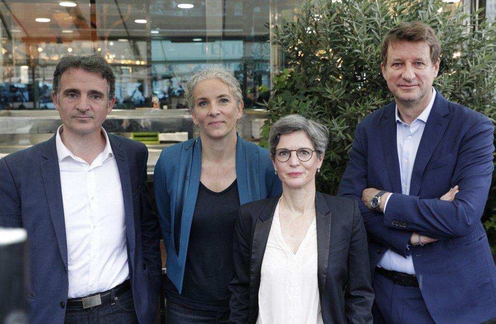 Les candidats d'Europe Ecologie les Verts engagés dans la primaire écologiste. Yannick Jadot a remporté la primaire et sera le candidat EELV pour 2022.