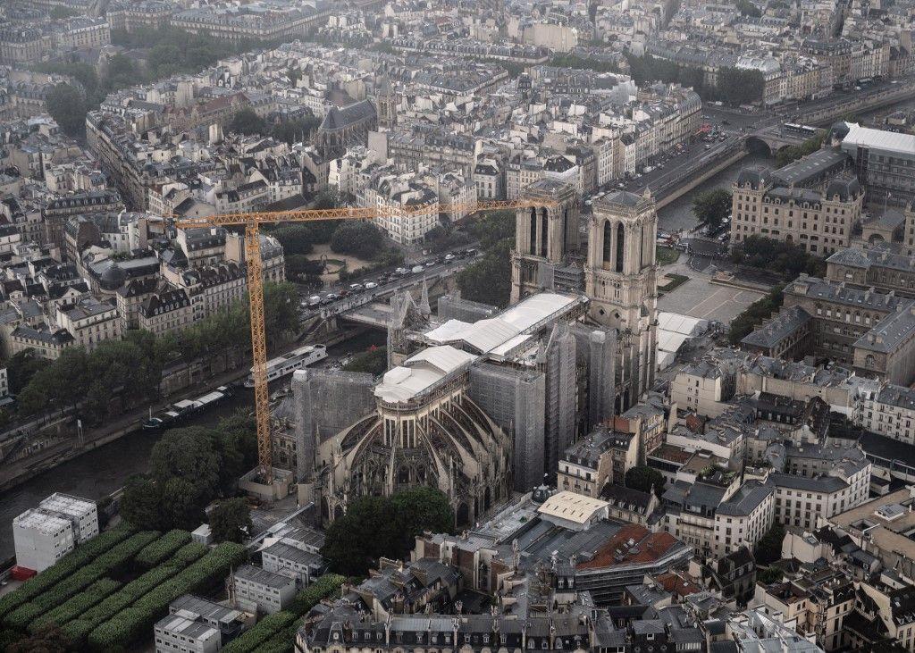 Les travaux de sécurisation de la cathédrale Notre-Dame-de-Paris sont terminés.