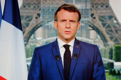 Emmanuel Macron lors de son allocution du 12 juillet.