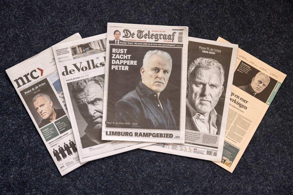La presse néerlandaise rend hommage à Peter R. De Vries.