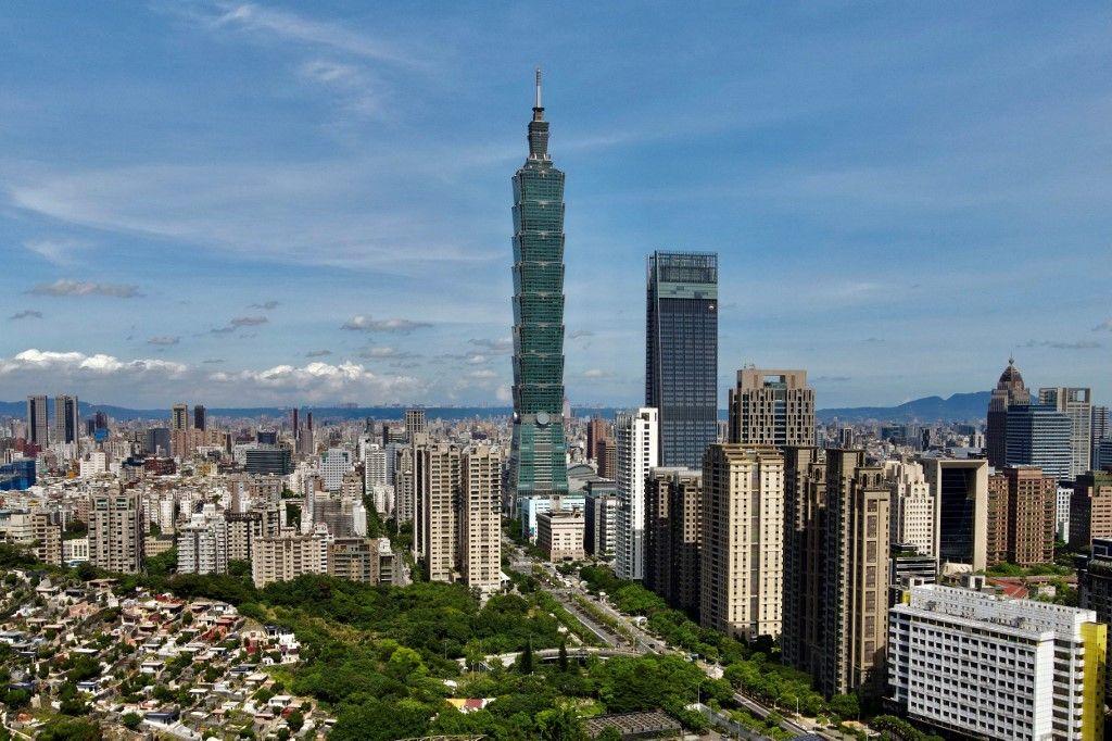 Le Taipei 101, gratte-ciel de 508 mètres de hauteur, symbole de la capitale taïwanaise.