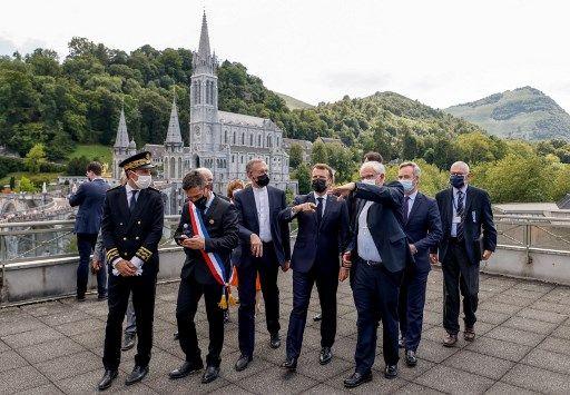 Emmanuel Macron était en visite à Lourdes, le 16 juillet 2021.