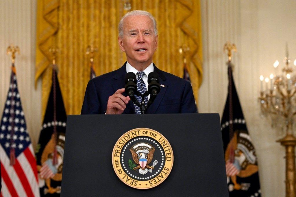Le président américain Joe Biden s'exprime lors d'une conférence de presse le 10 août 2021, dans la salle Est de la Maison Blanche, à Washington.